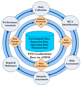 Working procedure circulation and data flow circulation of PIM.