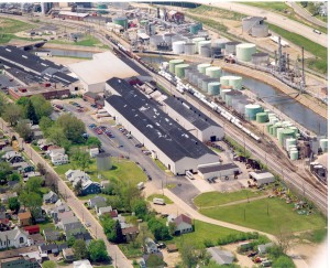Aerial View of Bradford, PA -Dresser Inc., Facility