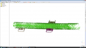 MEG Line 3D Model as a point cloud