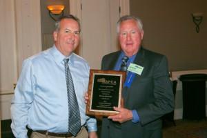 Jim Harvey, left, with NAPCA 2013 Hall Of Fame honoree George Stoddard. Image: NAPCA.