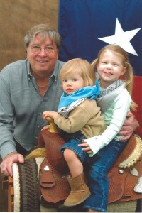 Doug Evans with his grandchildren.