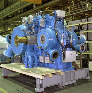 This eight-stage RG-type integrally geared centrifugal compressor is optimized for a carbon dioxide application.