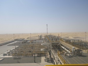 Pipeline compressors are installed in stations such as this one in the United Arab Emirates.