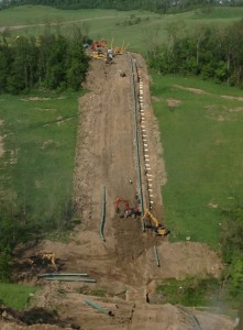 Pipeline in the Utica Shale.