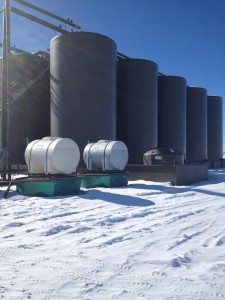 Storage tanks in the Pinedale system.