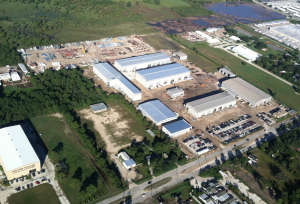 From the air: The SEC Energy site in heavily industrialized northwest Houston.