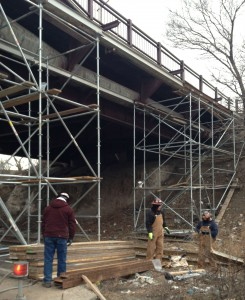 The heavy bridge traffic only added to the logistical concerns facing pipeline repair crews.