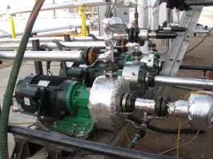 Photo by Magnatex Pumps, Inc. A magnetically driven centrifugal pump used in CL-WGTF.