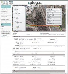 Epilogue's integrated GIS tool allows one click access to an asset's complete traceability history from C.A.T.S.® as well as vital supporting documents such as hydrostatic test reports, material test reports, etc.