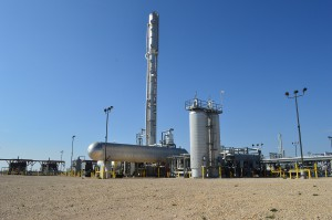 EnLink Midstream's Deadwood gas processing plant in Garden City, TX