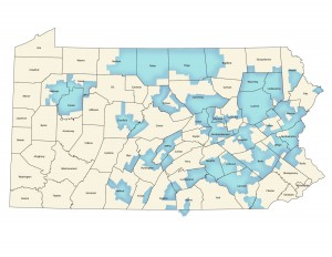GGI's Pennsylvania service area comprises 45 eastern and central counties.